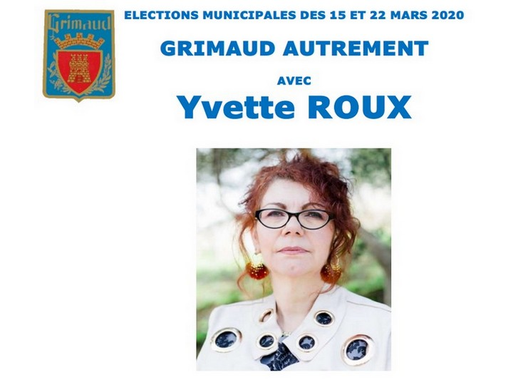 Notre candidate Yvette Roux